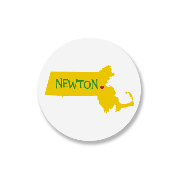 Newton Heart Massachusetts Coaster