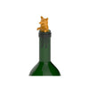 Corgi Bottle Stopper - in use
