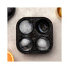 Peak Ice Works Silicone Ice Tray - Spheres - Marble White- ice shape