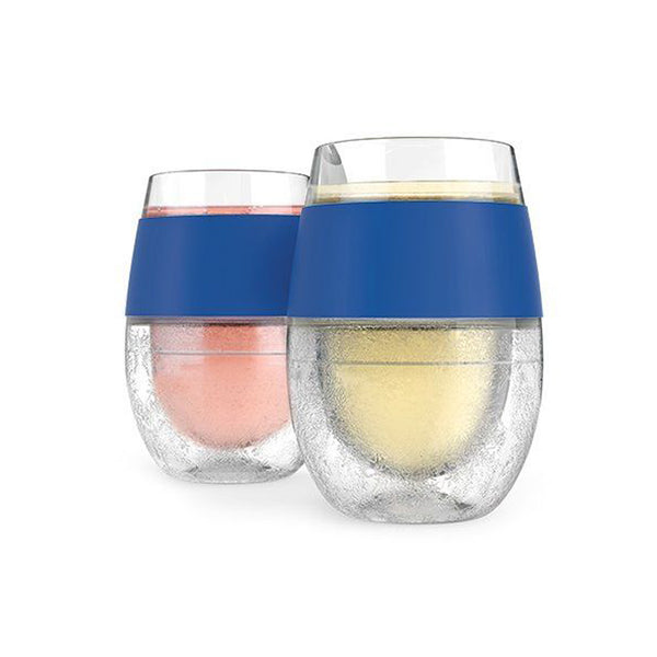 HOST Wine FREEZE Cooling Cups Set of 2 - Navy