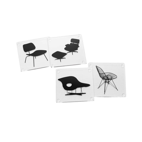 MoMA Eames Chairs Coaster Set of 4