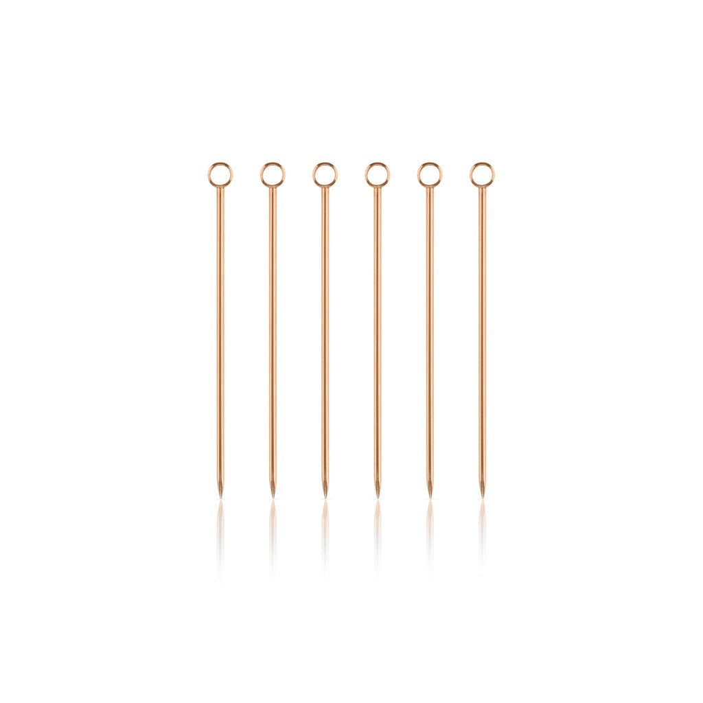 Cocktail Pick Set - Copper