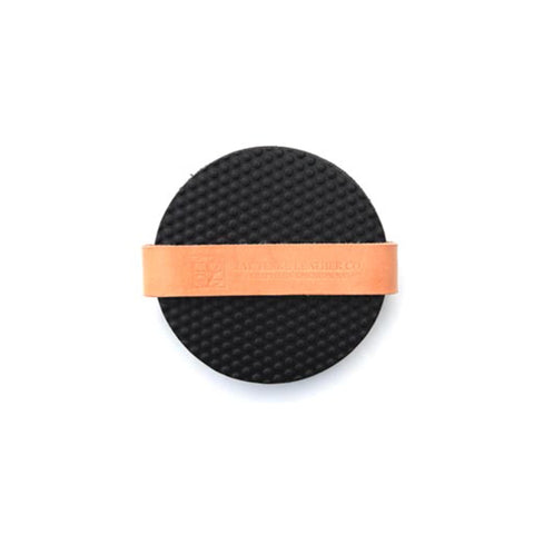 Leather Dotted Coaster Set of 4 - Black