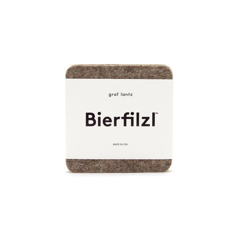 Bieerflitz Wool Felt Coaster Set of 4 - Ash Brown