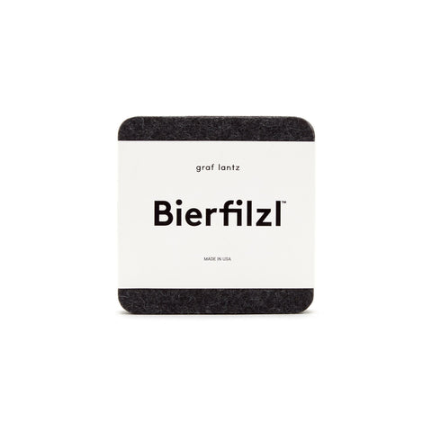 Bierfilzl Wood Felt Coaster Set of 4 - Charcoal