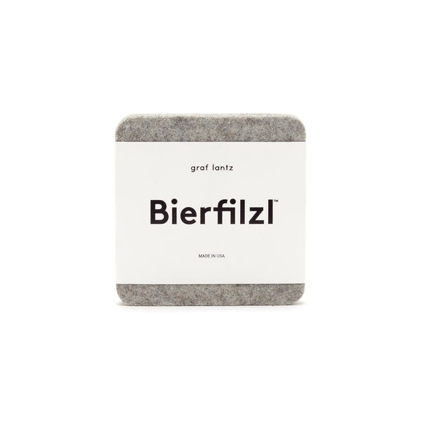 Bierfilzl Wool Felt Coaster Set of 4 - Granite