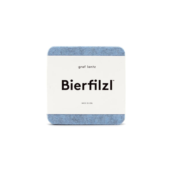 Bierfilzl Wool Felt Coaster Set of 4 - Heather Blue