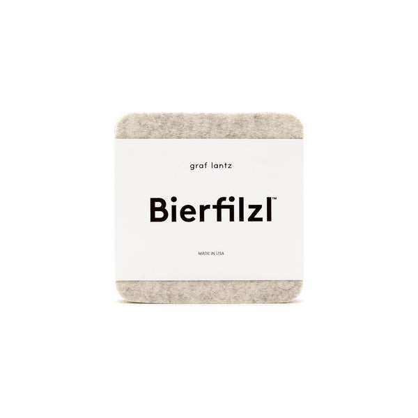 Bierfilzl Wool Felt Coaster Set of 4 - Heathered White