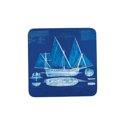 Blueprint Ship Coaster Set