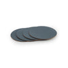 Recycled Leather Coasters  Set of 4- Petrol
