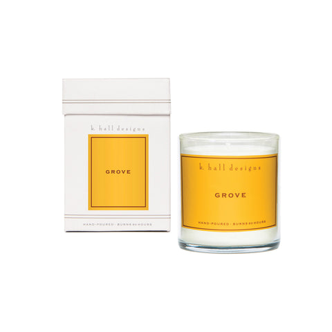 K. Hall Designs Boxed Jar Candle - Grove