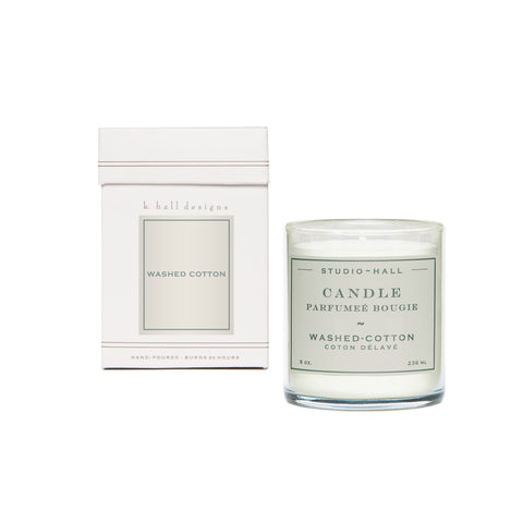 K. Hall Designs Boxed Jar Candle - Washed Cotton