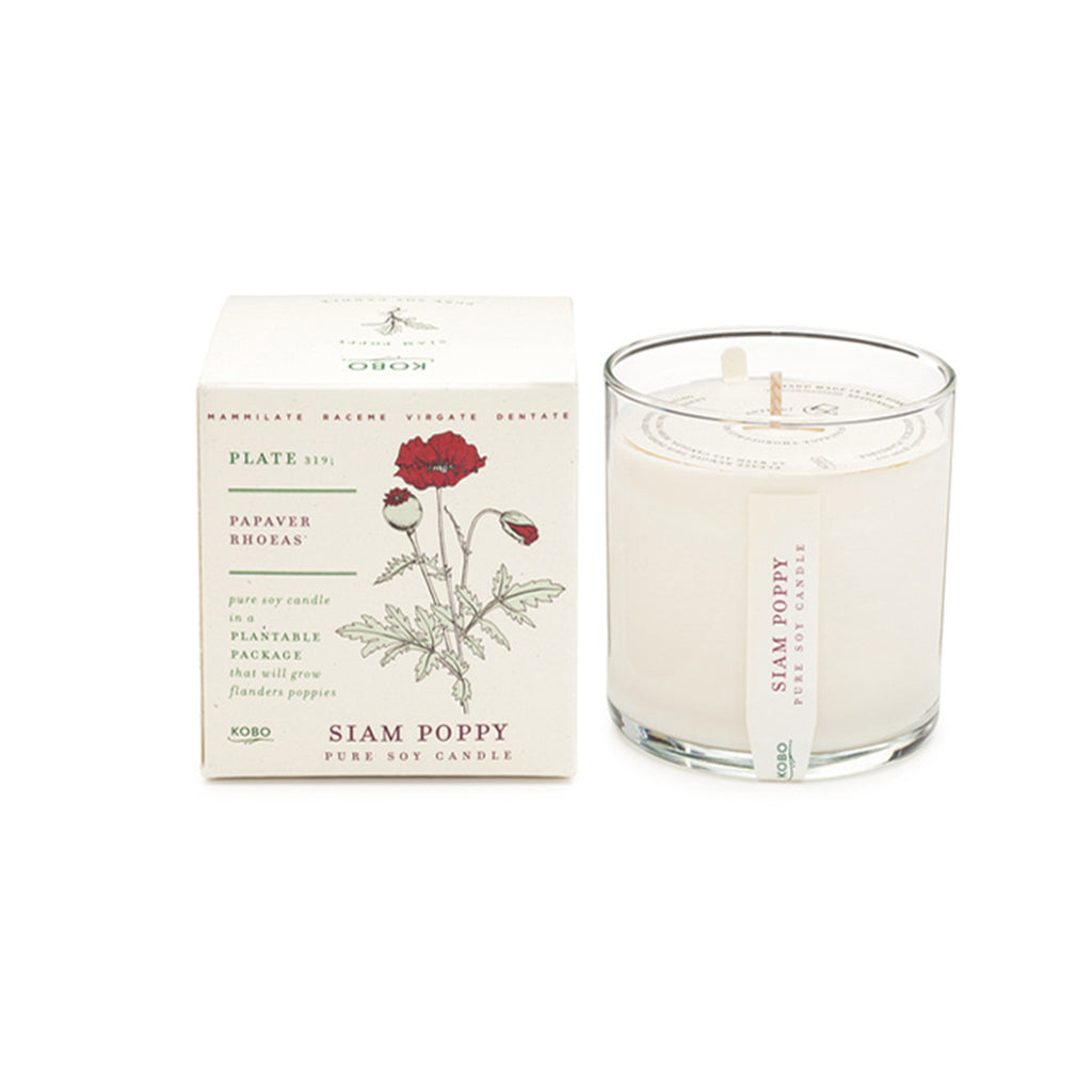 Seeds Collection Soy Candle: Siam Poppy