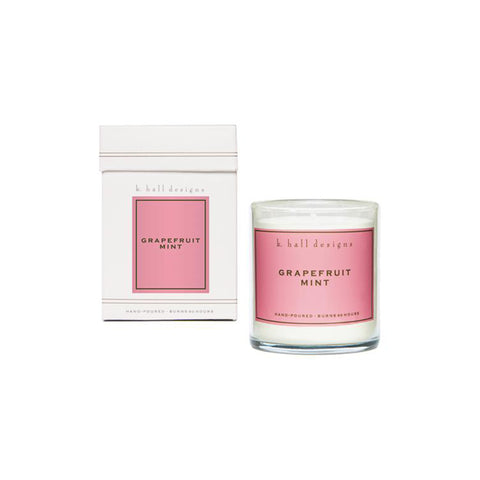 K. Hall Designs Boxed Jar Candle - Grapefruit