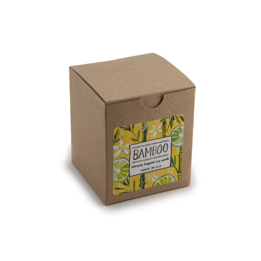Intensely Fragrant Soy Candles - Bamboo in box