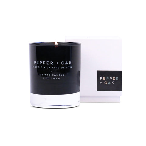 Paddywax Statement Glass Candle - Pepper + Oak