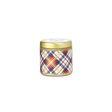 Paddywax Tartan Collection - Holly Leaves & Cranberry 3.5 oz tin