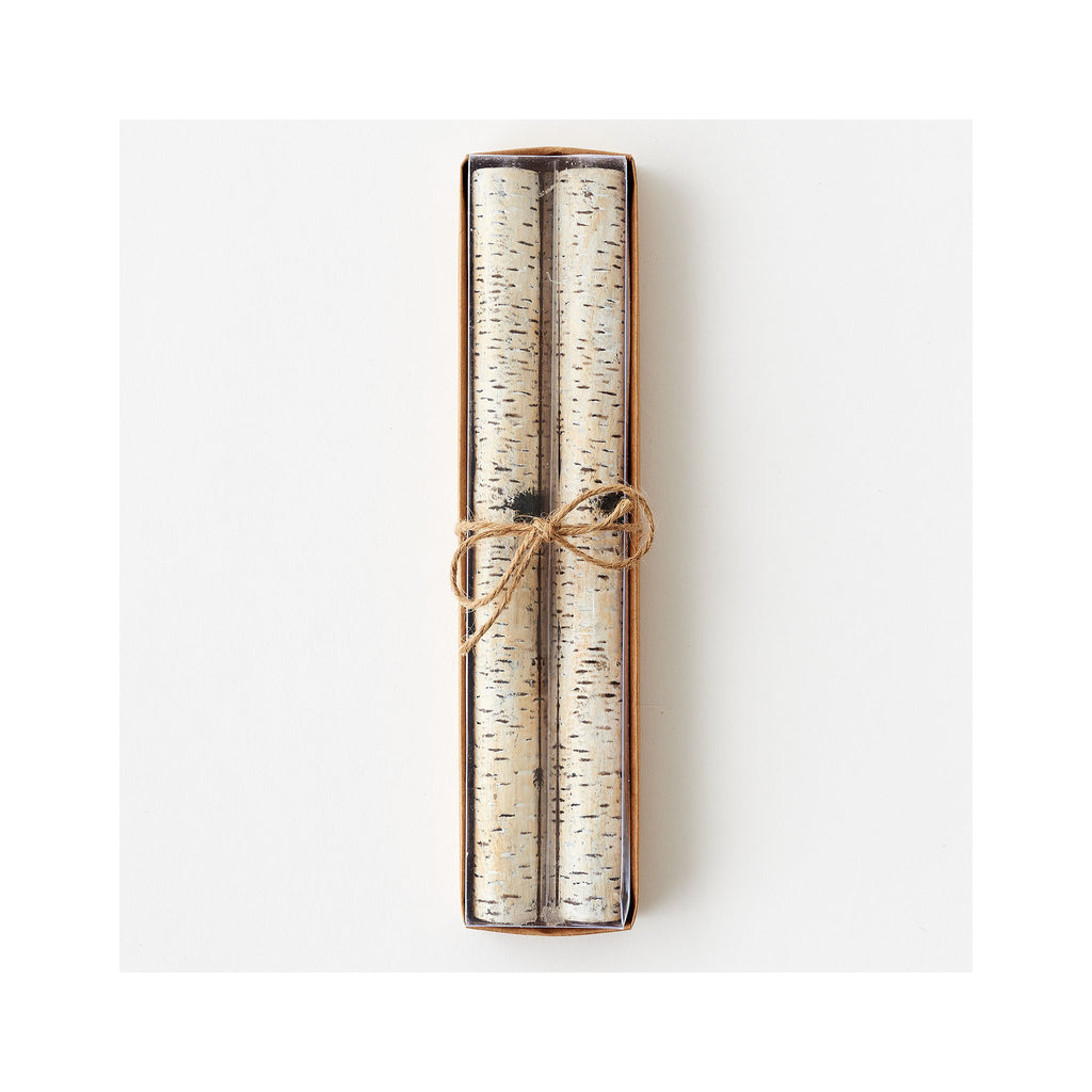 Birch Taper Candles Set of 2