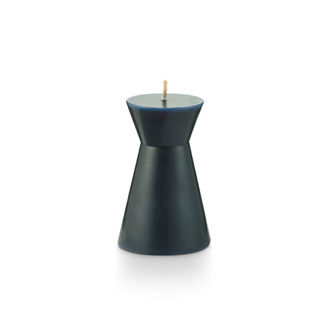 Indigo Geo Pillar Candle - Small