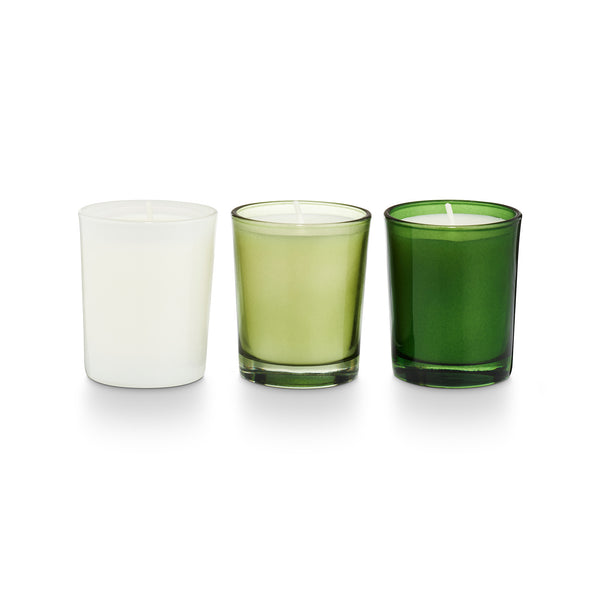 Frost & Fir Tree Votive Gift Set of 3