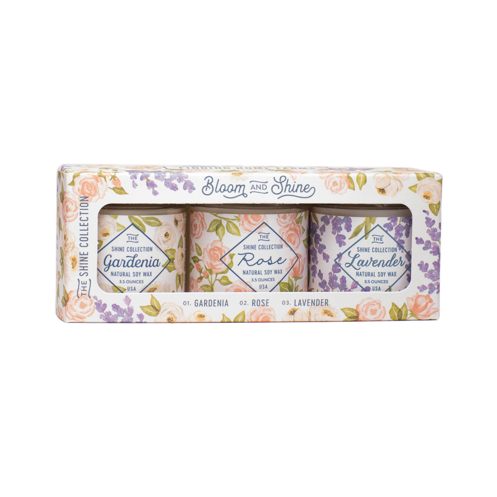 Bloom & Shine Trio Candle Collection