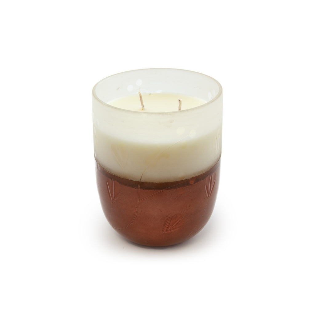 Autumn Sage Glass Candle