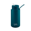 Frank Green 34 oz Ceramic Reusable Bottle - Marine Blue