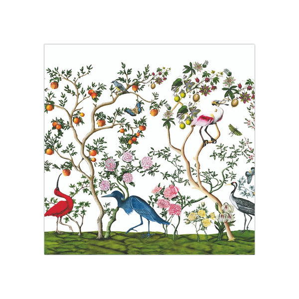 Bird Chinoiserie Beverage Napkins