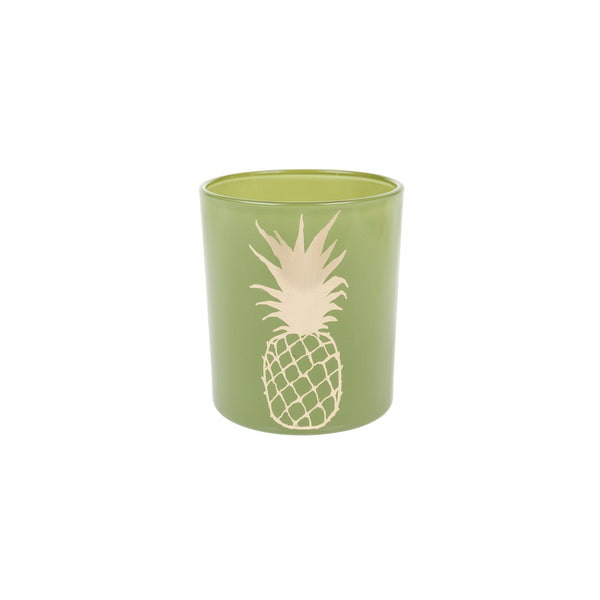Aruba Pineapple Glass Candle Holder