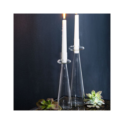 Carlson Glass Candleholders