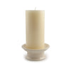 Ceramic Candle Pedestal Base with Pillar Candle