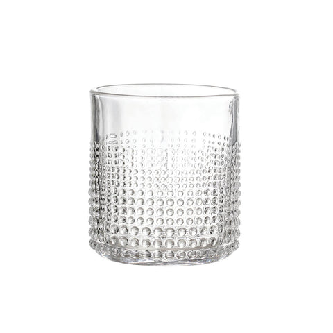 Embossed Dotty Tumbler - Clear