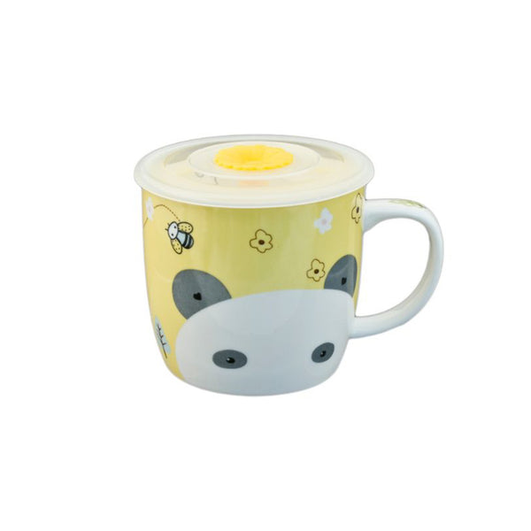 Animal Mug with Lid - Yellow Panda