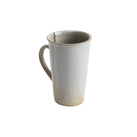 Reactive Glaze Stoneware Mugs with Teabag Slot- Sage