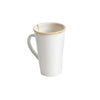 Reactive Glaze Stoneware Mugs with Teabag Slot - White