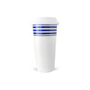 Porcelain Travel Mug - Blue Beach Towel Stripe