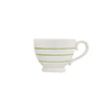 Striped Stoneware Mug - Green