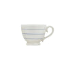 Striped Stoneware Mug - Teal