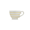 Striped Stoneware Mug - Yellow