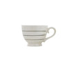 Striped Stoneware Mug - Grey
