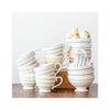 Striped Stoneware Mugs & Bowls