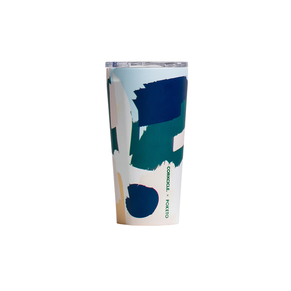 Corkcicle Tumbler - Poketo White Brush Stroke
