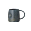 Reactive Glaze Stoneware Mug - Blue - Side view