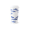Porcelain Travel Mug - School of Fish