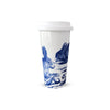Porcelain Travel Mug - Blue Bunnies