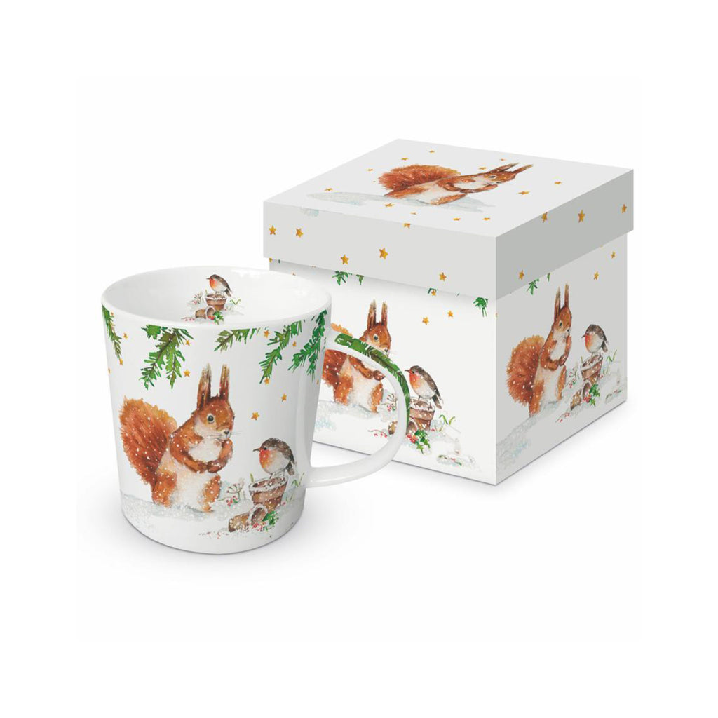 Squirrel & Robin Gift Box Mug
