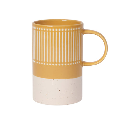 Etched Tall Mug - Ochre