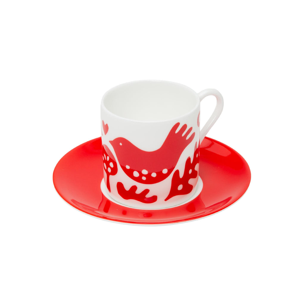 Fiona Howard Espresso Set - White Love Doves