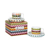 Viva Cup & Saucer Set of 2 - Overlap & Diamond Stripes with Box