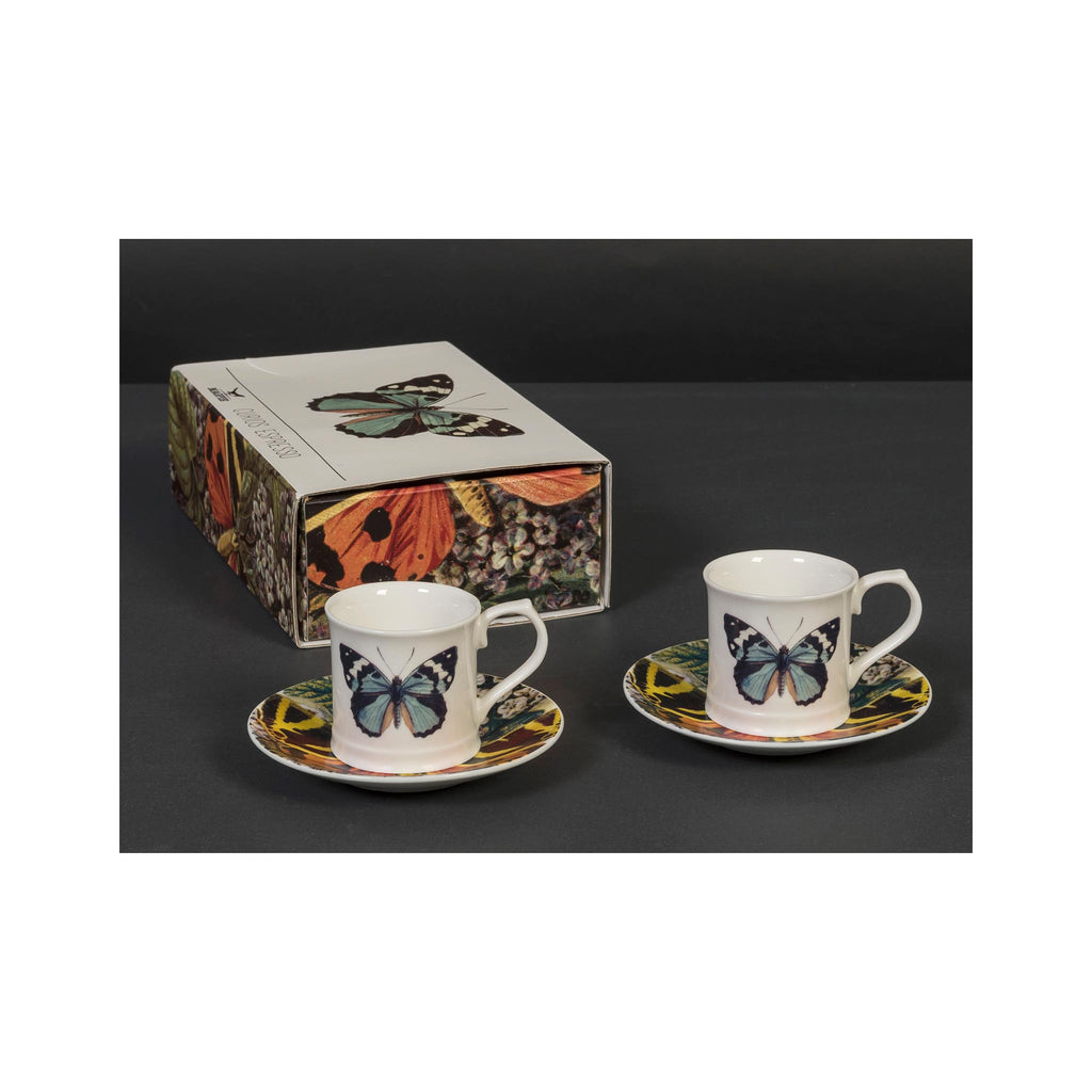 Butterfly Curious Espresso Cup Set of 2